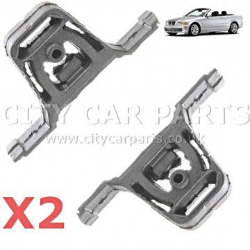 2 x EXHAUST RUBBER MOUNT HANGER BRACKET FOR BMW REAR SILENCER 18207503246